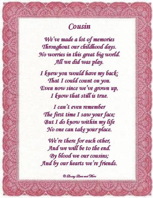 cousin poem