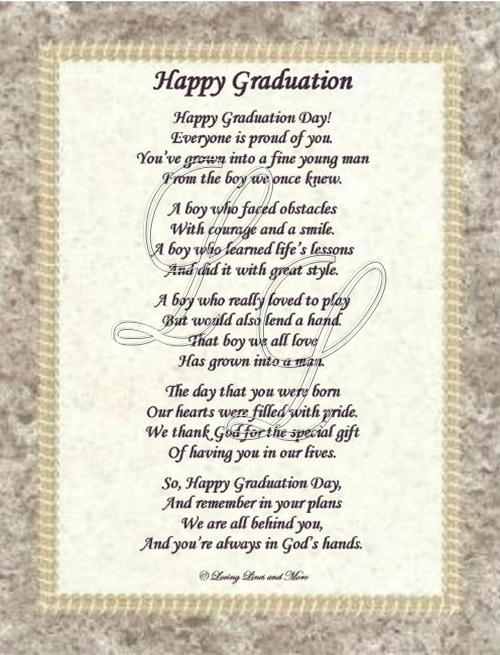 Graduation Poem for a Guy