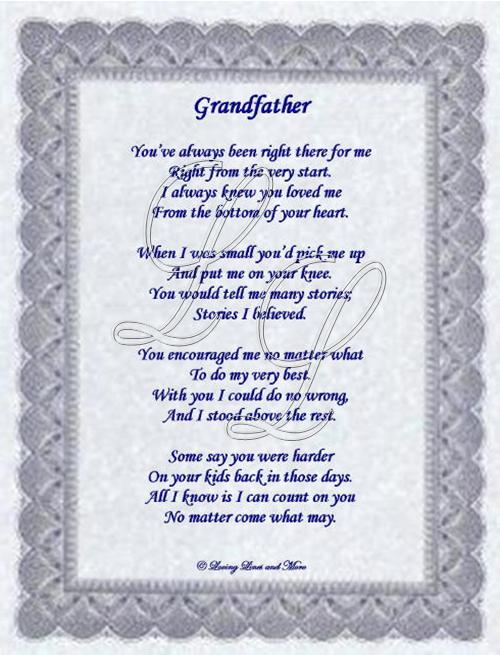i love you grandpa poems - photo #34