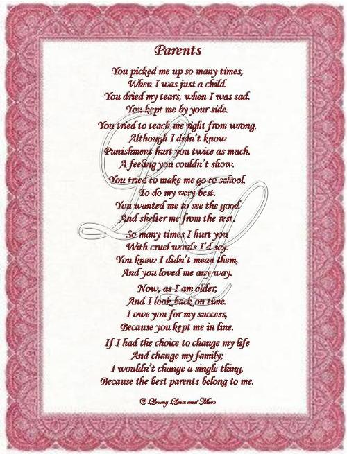 Gallery For > 50th Wedding Anniversary Poem For Parents