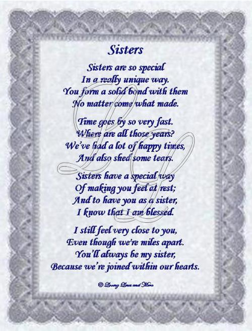 Friendship Poems Sisters Sister Poems Poems About Love